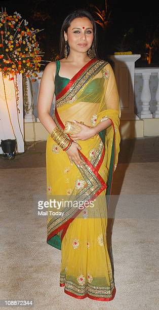 Rani Mukherjee at Imran Khan and Avantika Malik's wedding reception party which was organised by Aamir Khan and Kiran Rao at Taj Lands End in Bandra...