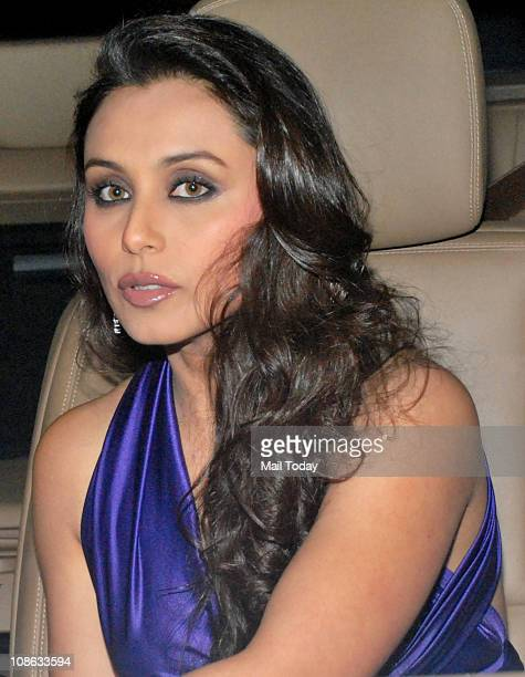 Rani Mukherjee at the 56th Idea Filmfare Awards at Yashraj Studios in Mumbai