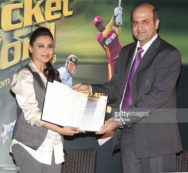 Rani Mukherjee at the launch of book Women`s Cricket World coauthored by former India women cricket team captain Anjum Chopra at JW Marriott Hotel in...