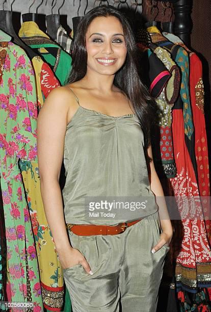 Rani Mukherjee at the opening of Sabyasachi's new store in Mumbai on June 30, 2010.
