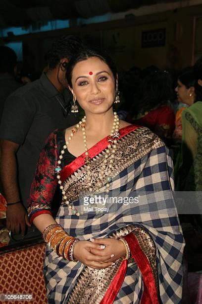 Rani Mukherjee during Durga Pooja celebrations at a pandal in Mumbai on October 15, 2010.
