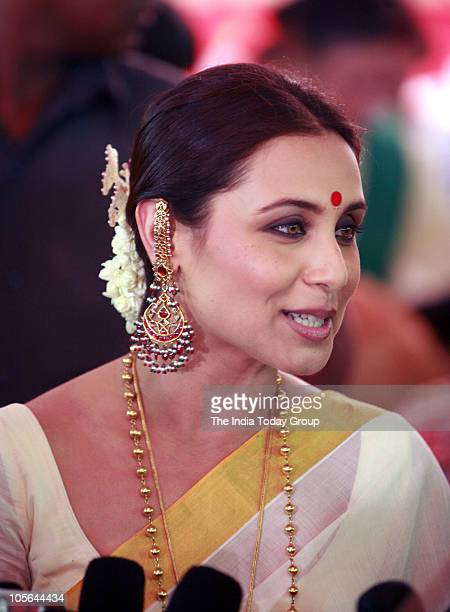 Rani Mukherjee during Maha Ashtami puja in Mumbai on Friday October 15 2010