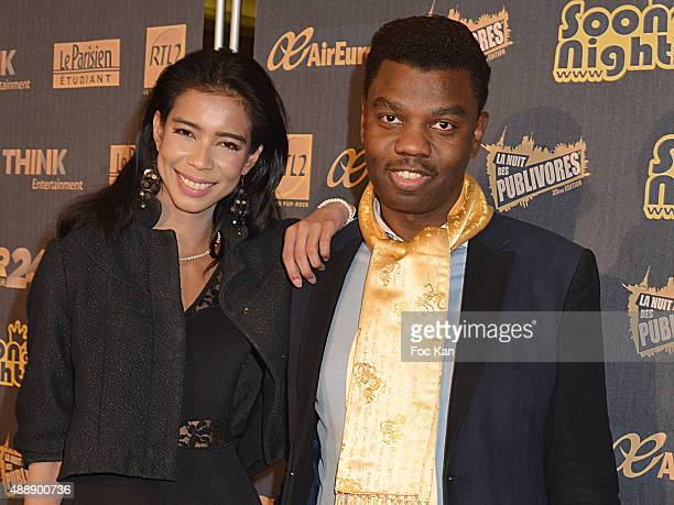 Vanessa Modely and Jean Barthelemy Bokassa attend the '35th Nuit des Publivores' at Grand Rex September 17 2015 in Paris France