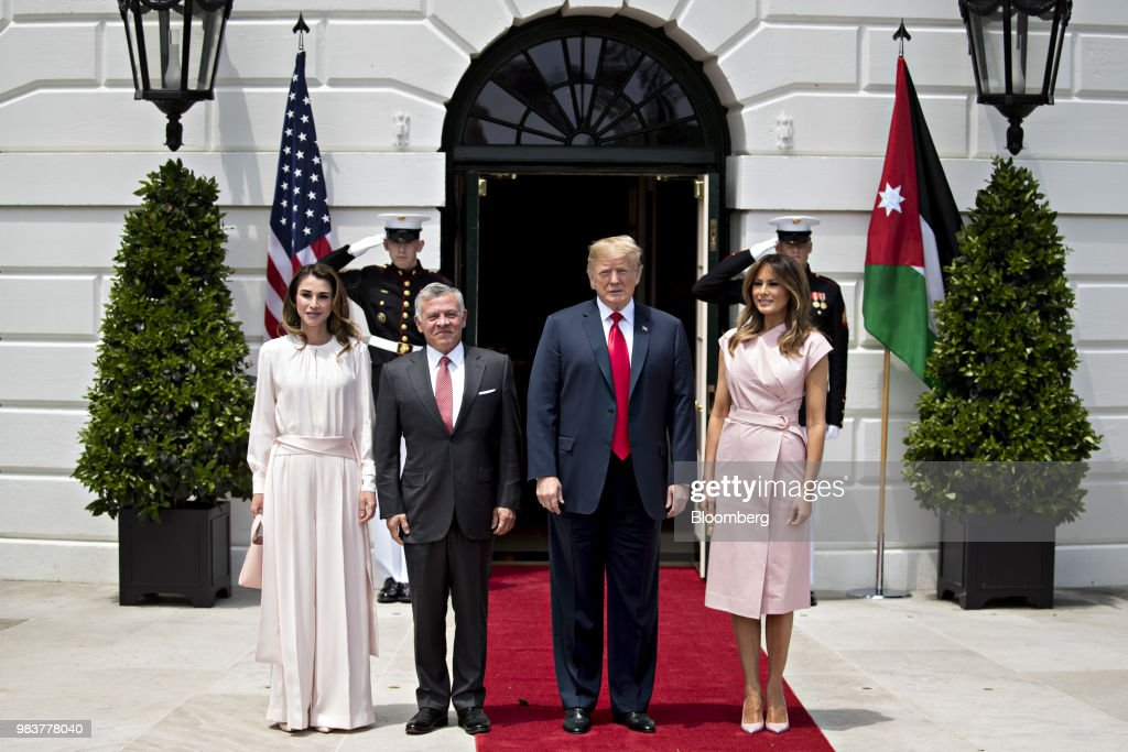 President Trump Hosts Jordan's King Abdullah II Bin Al-Hussein And Queen Rania Al Abdullah
