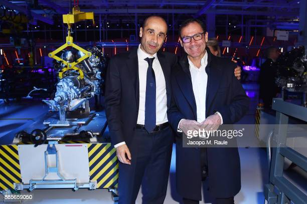 Ranieri Niccoli and Davide Cassani attend LAMBORGHINI URUS WORLD PREMIERE on December 4 2017 in Sant'Agata Bolognese Italy