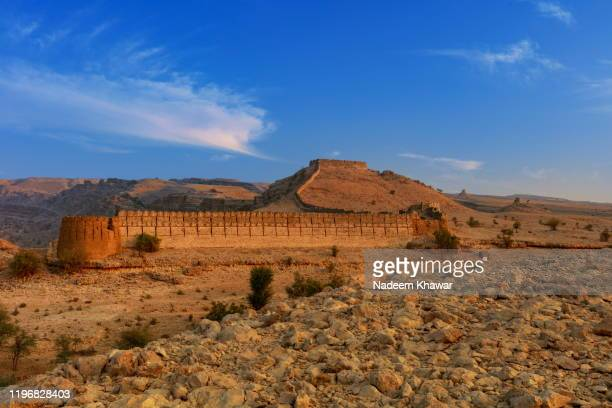 ranikot fort - sind stock pictures, royalty-free photos & images