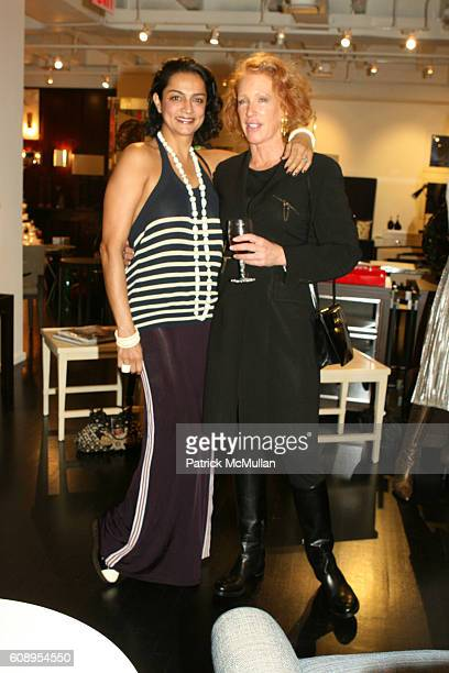 Ranjana Khan and CC Dyer attend HOMERRichard Mishaan Holiday Party at NYC on November 29 2007
