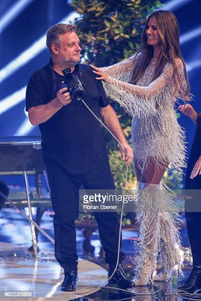 Rankin and Heidi Klum during the Germany's Next Topmodel Finals at ISS Dome on May 24 2018 in Duesseldorf Germany