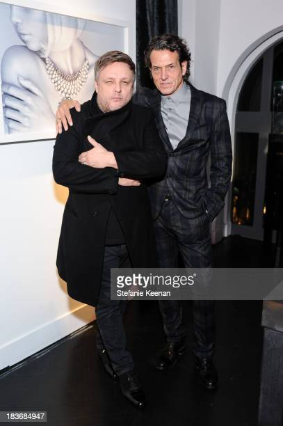 Rankin and Stephen Webster attend Stephen Webster And Rankin Celebrate Their AW1314 Collaboration on October 8 2013 in Beverly Hills California