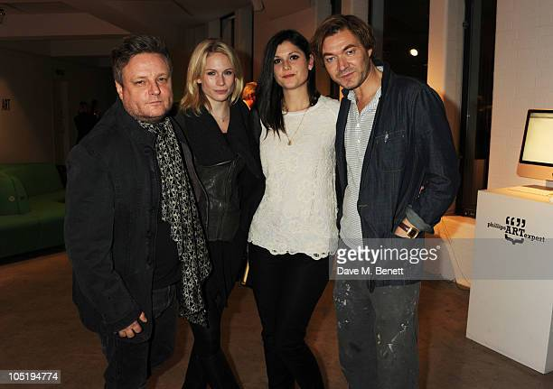 Rankin and Tuuli Shipster attend Phillips de Pury Company charity auction in association with Tatler on October 11 2010 in London England