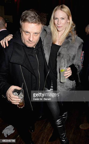 Rankin and Tuuli Shipster attend the Mr Hudson 'Step Into The Shadows' gig at London's The Box supported by Smirnoff on March 24 2014 in London...