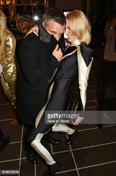 Rankin and Tuuli Shipster attend the Scottish Fashion Awards in association with Maserati at Rosewood Hotel on October 21 2016 in London England
