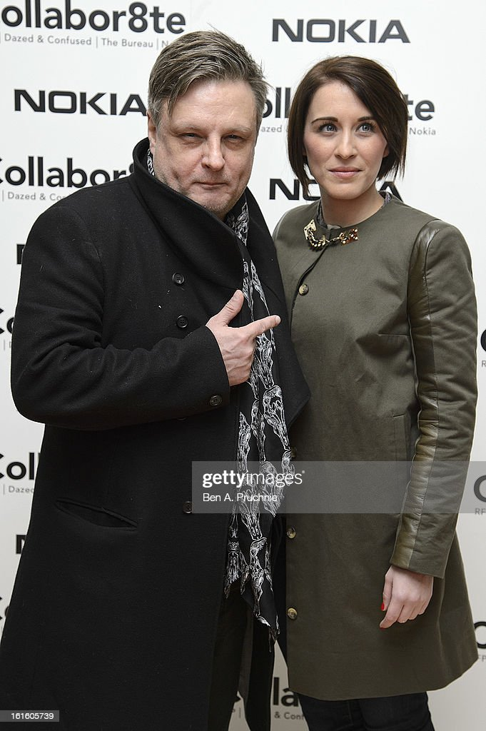 Rankin and Vicky McClure attend the premiere of Rankin's Collabor8te connected by NOKIA at Regent Street Cinema on February 12, 2013 in London, England.