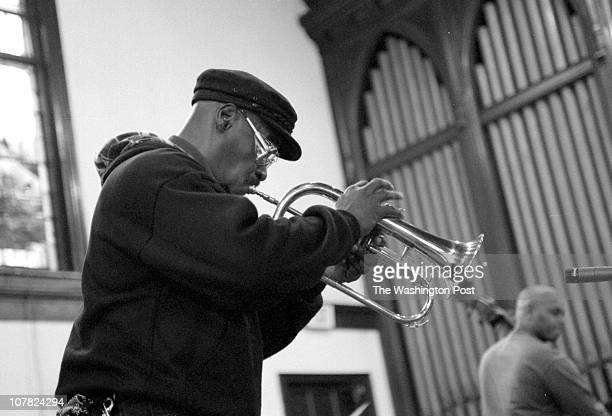 01/19/98 Rankin Chapel Howard University BRIEF DESCRIPTION Jazz festival honoring Dr King Photo of musican Bobby Garnes playing some jazz on the...