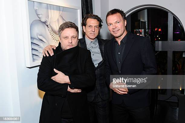 Rankin Stephen Webster and Pete Tong attend Stephen Webster And Rankin Celebrate Their AW1314 Collaboration on October 8 2013 in Beverly Hills...