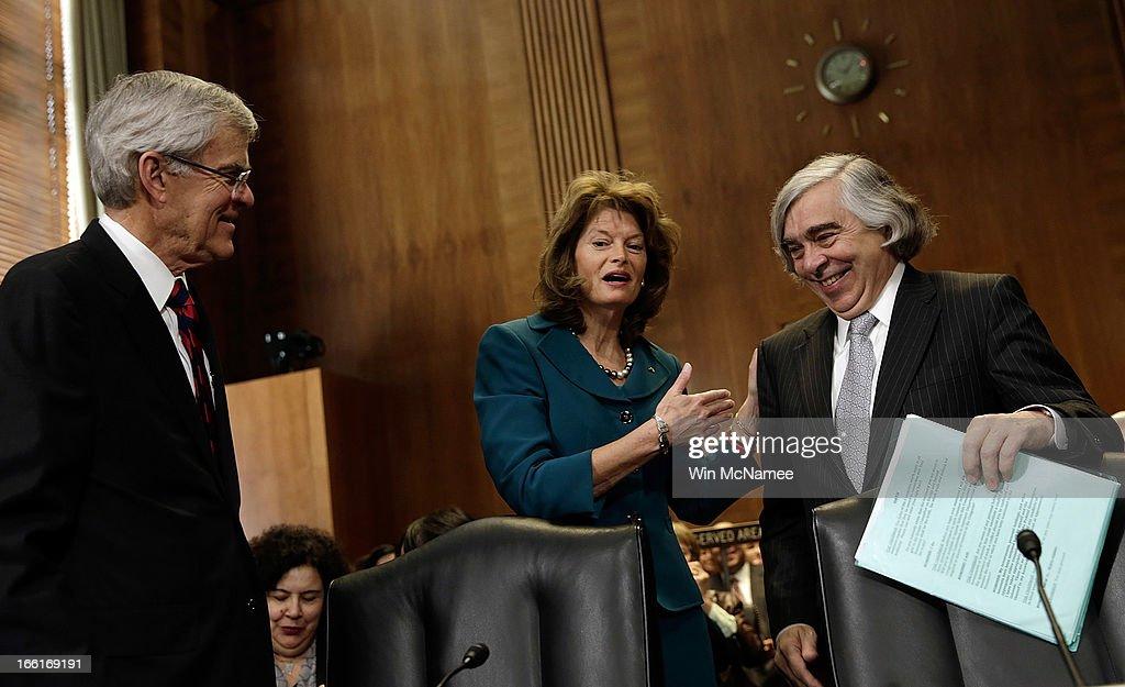 Senate Holds Confirmation Hearing For Ernest Moniz For Energy Secretary