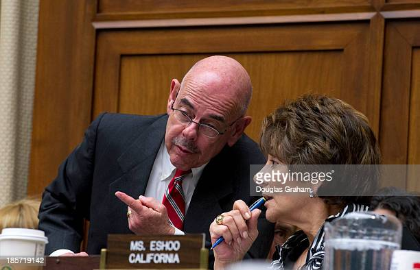 Ranking Member Henry Waxman DCA and Anna Eshoo DCA during the full committee hearing on implementation of the Affordable Care Act before the House...