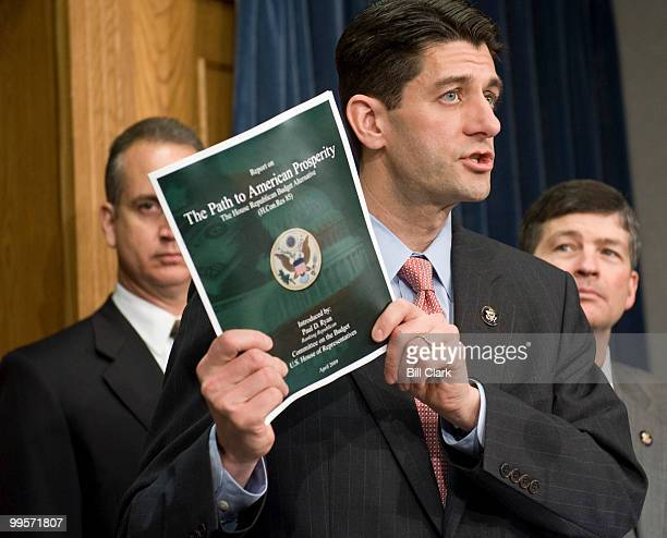 Ranking member of the House Budget Committee Paul Ryan DWisc holds a news conference to introduce the House Republicans alternative budget proposal...