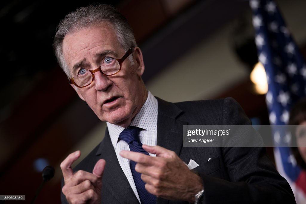 Ranking member of the House Ways and Means Committee Rep. Richard Neal (D-MA) speaks during a news conference on Republican plans to end the state and local tax deduction, on Capitol Hill, October 12, 2017 in Washington, DC. The Democrats called on Congressional Republicans to hold open and public hearings on their plans for tax reform.