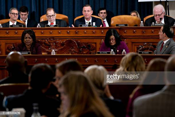 Ranking member Rep Doug Collins speaks as House Judiciary Committee Chairman Jerry Nadler listens during a House Judiciary Committee markup hearing...