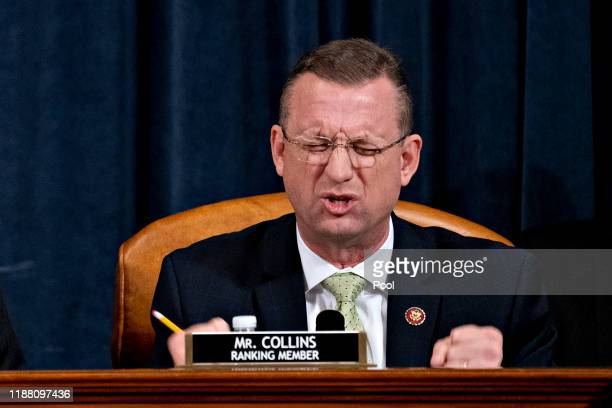 Ranking member Rep. Doug Collins speaks during a House Judiciary Committee markup hearing on the Articles of Impeachment against President Donald...