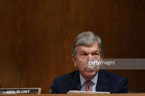 Ranking Member Roy Blunt, attends testimony by Xavier Becerra, Secretary of the Department of Health and Human Services , before a Senate...