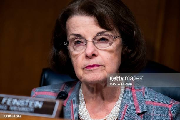 Ranking Member Sen Dianne Feinstein attends a Senate Judiciary Committee hearing to examine issues involving race and policing practices in the...