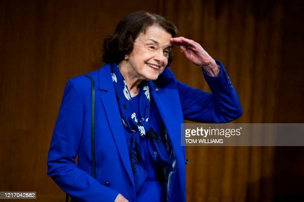 Ranking member Sen Dianne Feinstein DCA arrives for the Senate Judiciary Committee hearing titled Examining Best Practices for Incarceration and...