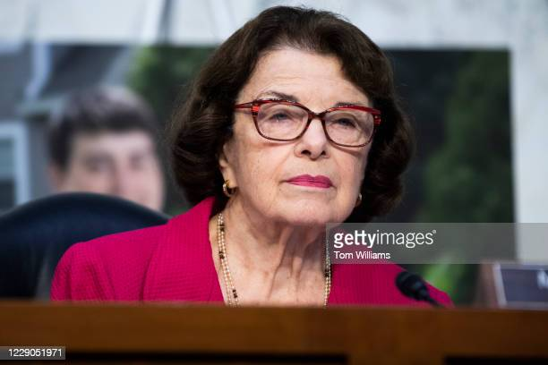 Ranking member Sen Dianne Feinstein DCalif questions Supreme Court justice nominee Amy Coney Barrett on the second day of her Senate Judiciary...