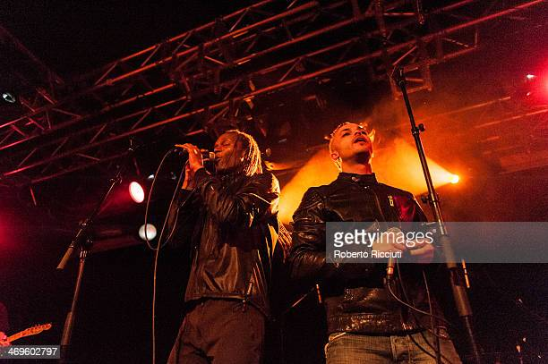 Ranking Roger and Ranking Junior of The Beat perform on stage at The Liquid Room on February 15 2014 in Edinburgh United Kingdom