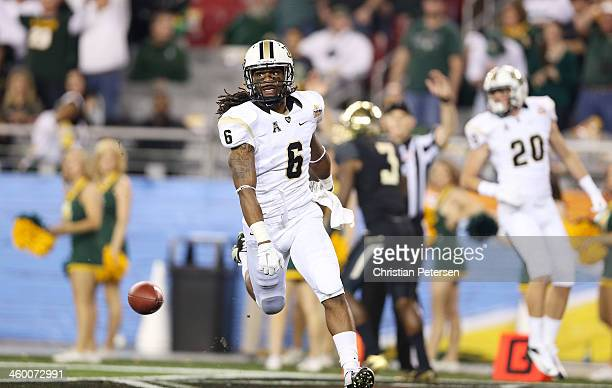 Rannell Hall of the UCF Knights scores a second quarter touchdown against the Baylor Bears during the Tostitos Fiesta Bowl at University of Phoenix...