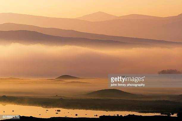 Rannoch Moor sunrise, Scotland. UK. Europe.