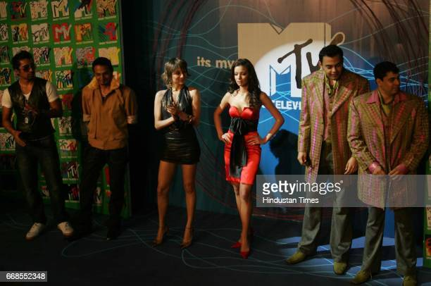 Rannvijay Anusha Dandekar VJ Mia Cyrus Sahukar and Cyrus Broacha Launch of Spanking News MTV