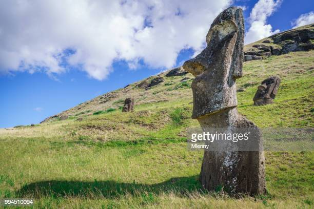 Rano Raraku Moai beelden Paaseiland Rapa Nui Chili