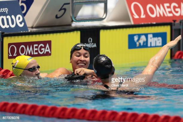 Ranomi Kromowidjojo of Netherlands compete in the Women's 50m freestyle final race during day two of the FINA Airweave Swimming World Cup Berlin 2017...