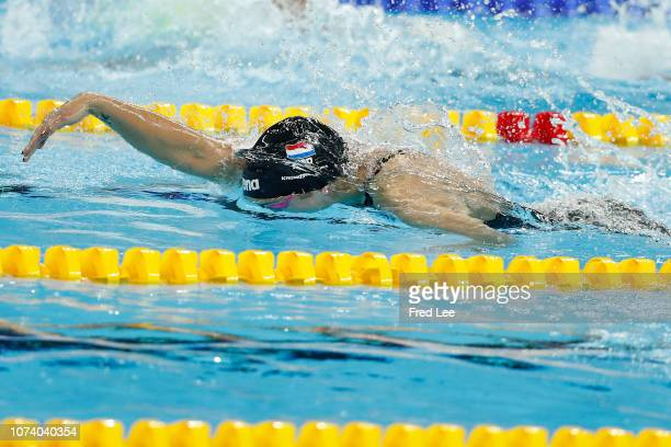 Ranomi Kromowidjojo of the Netherlands competes in the Women's 50m Freestyle Final during 14th FINA World Swimming Championships Day 6 on December 16...