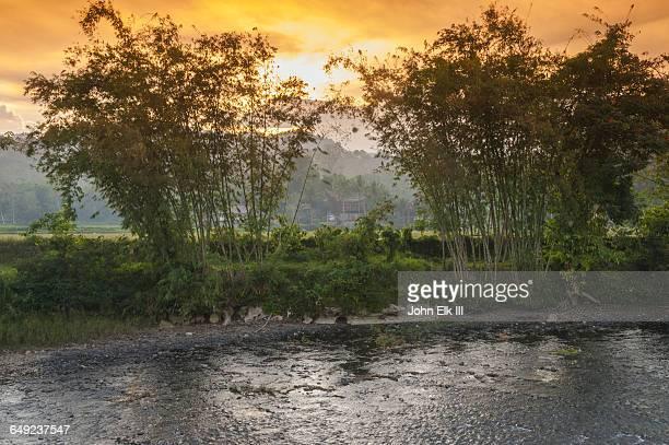rantepao, sa'dan river - rantepao stock photos and pictures