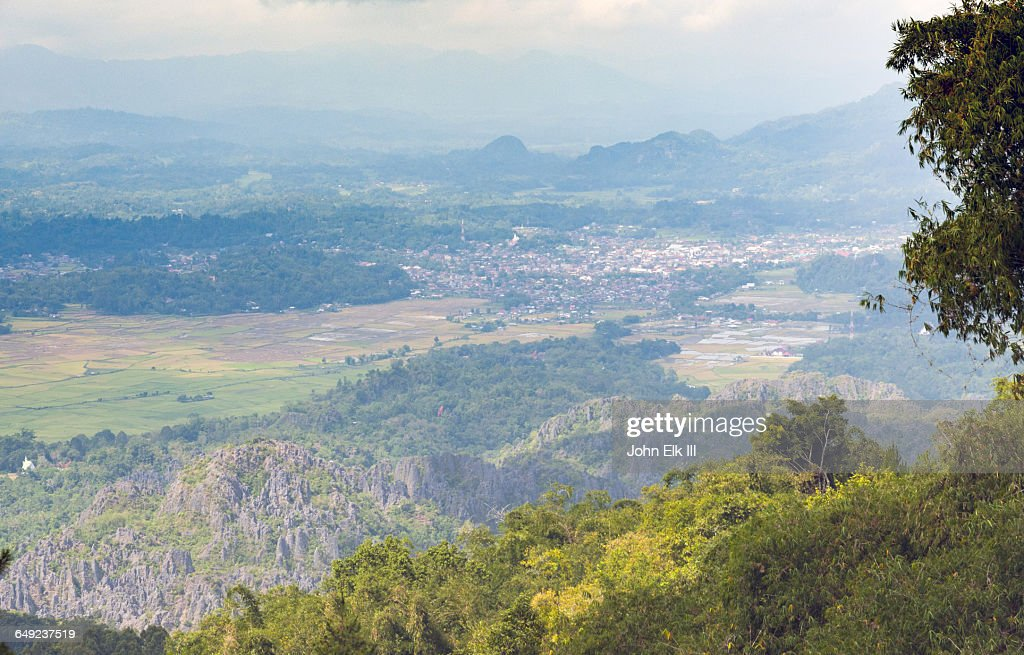 Rantepao, town from above : Stock Photo