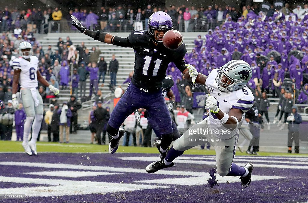 Kansas State v TCU : News Photo