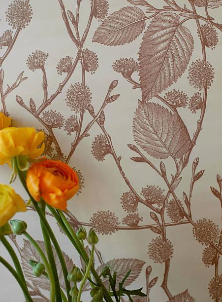 Ranunculus on floral paper