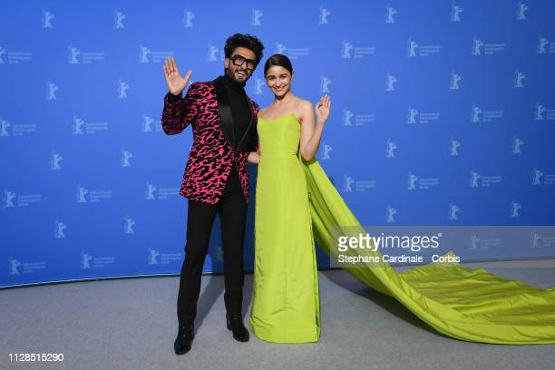 Ranveer Singh and Alia Bhatt pose at the Gully Boy photocall during the 69th Berlinale International Film Festival Berlin at Grand Hyatt Hotel on...
