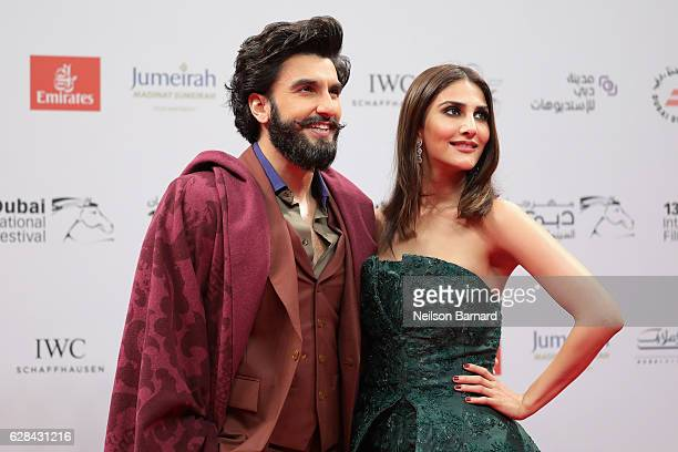 Ranveer Singh and Vaani Kapoor attends the Opening Night Gala during day one of the 13th annual Dubai International Film Festival held at the Madinat...