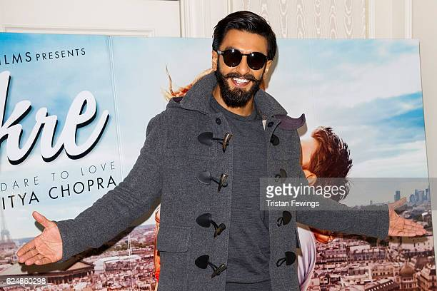 Ranveer Singh attends a photocall for Bollywood film 'Befikre' on November 21 2016 in London United Kingdom