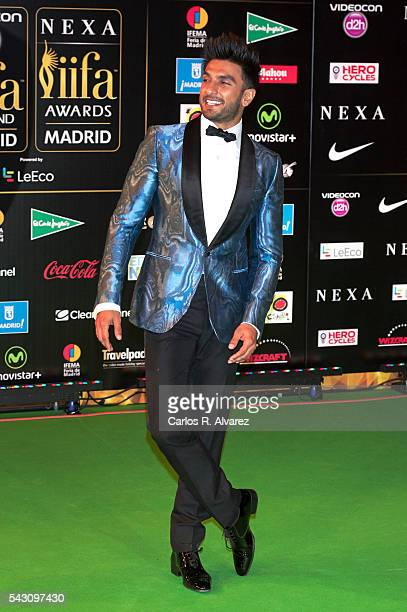 Ranveer Singh attends the 17th IIFA Awards at Ifema on June 25 2016 in Madrid Spain