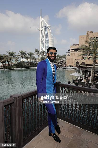 Ranveer Singh poses at a portrait session during day two of the 13th annual Dubai International Film Festival held at the Madinat Jumeriah Complex on...