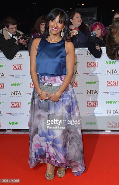 Ranvir Singh attends the 21st National Television Awards at The O2 Arena on January 20 2016 in London England