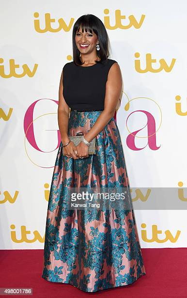 Ranvir Singh attends the ITV Gala at London Palladium on November 19 2015 in London England