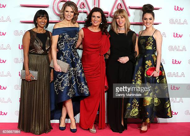 Ranvir Singh Charlotte Hawkins Susanna Reid Kate Garraway and Laura Tobin attends the ITV Gala at London Palladium on November 24 2016 in London...