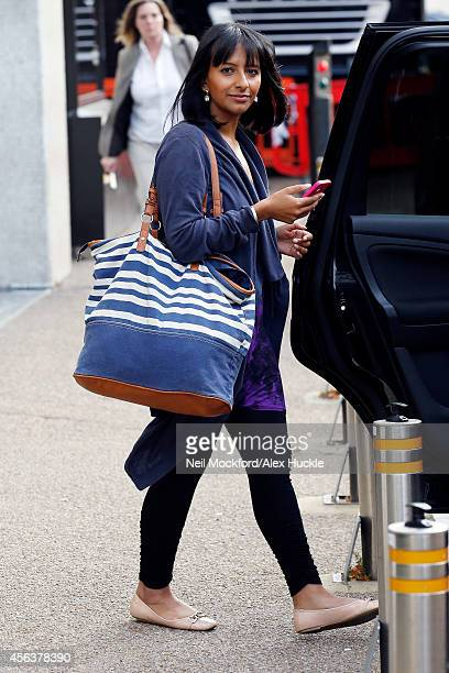 Ranvir Singh sighted leaving the ITV Studios on September 30 2014 in London England Photo by Neil Mockford/Alex Huckle/GC Images