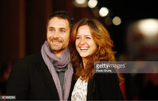 Raoul Bova and his Wife Chiara Giordano attend the 'Viola Di Mare' Premiere during day 2 of the 4th Rome International Film Festival held at the...
